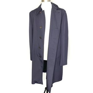 London Fog Maincoats Navy Blue Trench Coat H0865